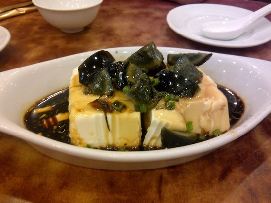 Pudong Kitchen: Century egg tofu