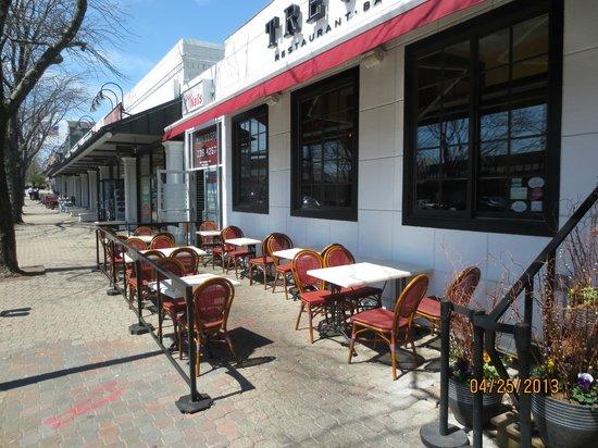 Treva: sidewalk tables
