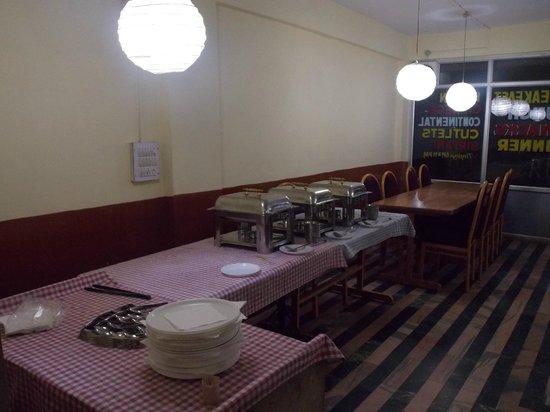 Hotel Snow Bird: Dinning Hall with Buffet