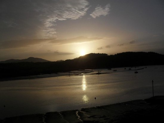 Anchor Hotel at Kippford: sunset view from our room