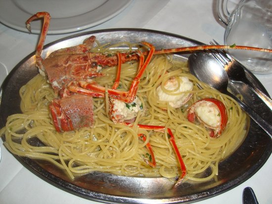 Macondo: spaghetti aragosta