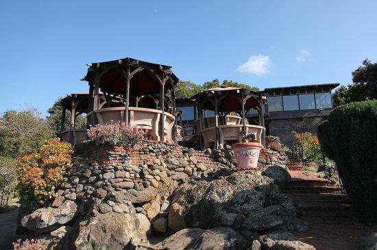 Kula Lodge: ロッジを下方から見る