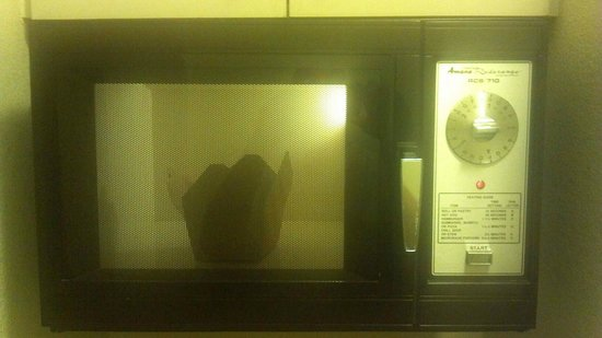 Quality Inn Medical Park: The old microwave stuck out like a sore thumb in the updated room.