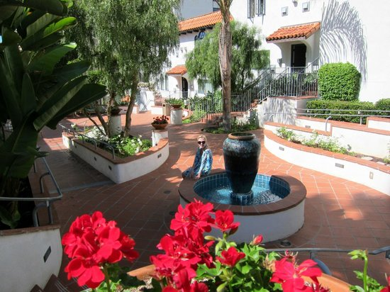 Grande Colonial La Jolla: Grand Colonial Courtyard and Our Room Entrance