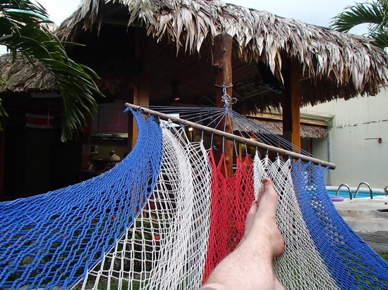 Arenal Hostel Resort: Hammock near pool and Bar