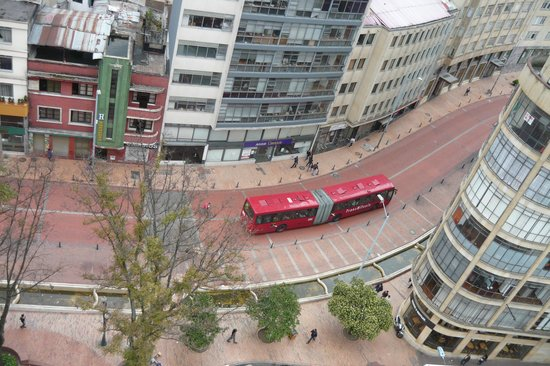 Hotel Augusta: Vista desde arriba la ciudad