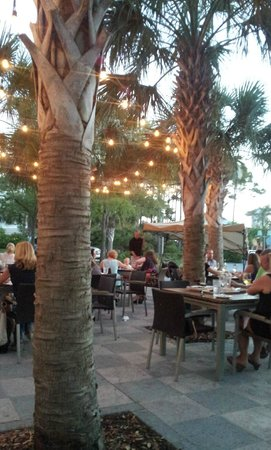 The Wine Bar - Watercolor on 30A : Bustling outdoor seating at Wine World- don't miss it!