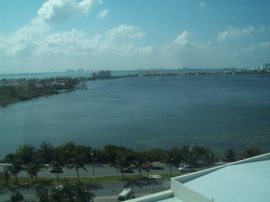 ME Cancun: View of the lagoon from our bedroom