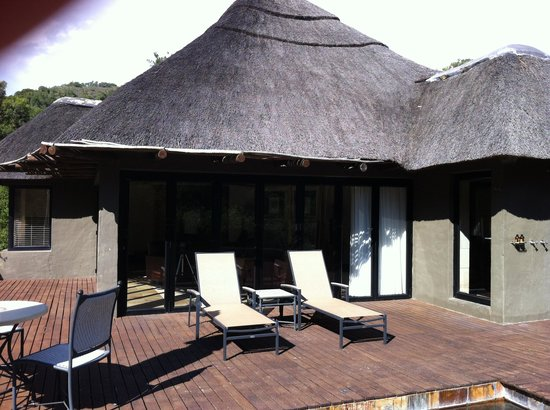 Shamwari Game Reserve Lodges: the sundeck  with the pool
