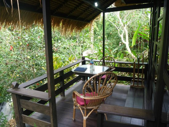 Ubud Sari Health Resort: Balcony for Zen Villa 6
