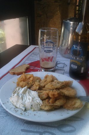 I.X. Mummy's Cooking: fried zucchini with tzatziki