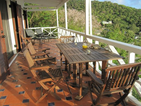 Blue Moon Antigua: Upper villa deck
