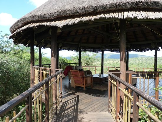 Thanda Safari: the viewing platform