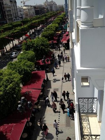Carlton Hotel Tunis : view from room 330