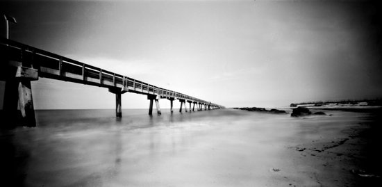 Fort Clinch State Park: pier - pinhole