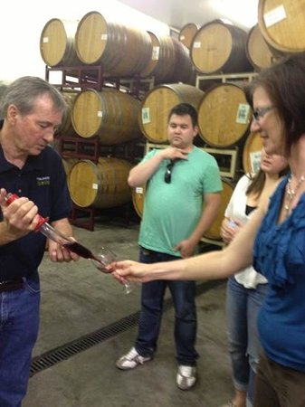 Vino Noceto Winery : Wine from the barrel