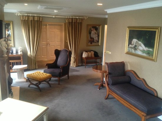 Lake Hotel: Living area.