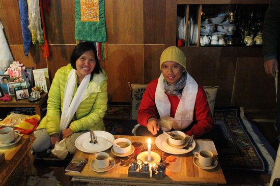 Silver Cloud Guest House: Me and a Thai traveller