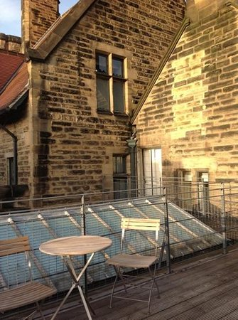 Jesmond Dene House: Surprise roof-terrace