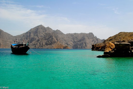 Khasab, Oman: Cristal clear water of Musandam