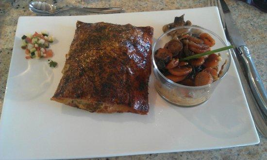 La Coccinelle : saumon koulibiac