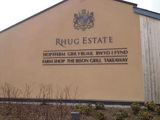 The Bison Grill: Rhug farm shop