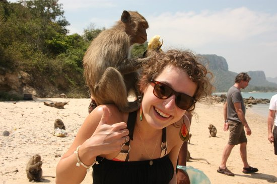 Siam Pearl Cruises: monkey and me