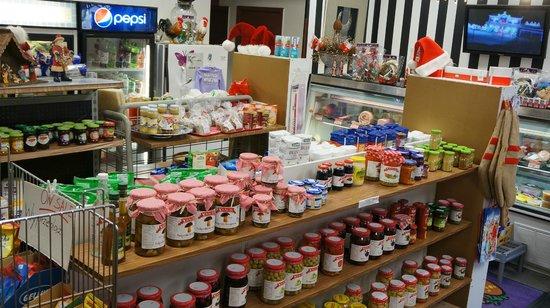 Anna Polish Deli: Variety of great tasting salads, dressings, jams, etc...