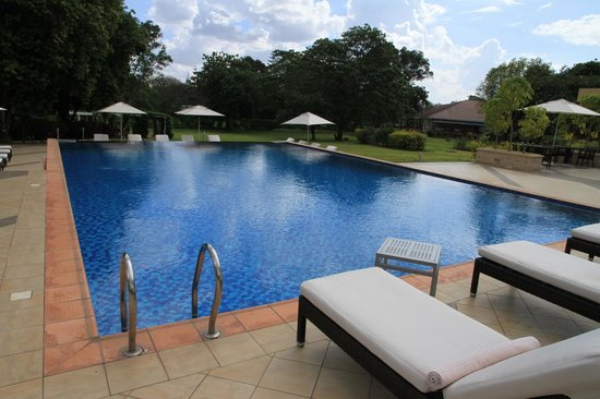 Mount Meru Hotel: The Pool is small but stunning with an infinity end
