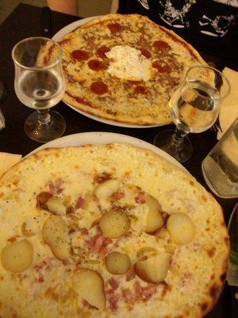 Pizzeria La Paulina : Pizza bianca