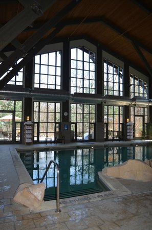 The Lodge at Woodloch: Access to outdoor jacuzzi