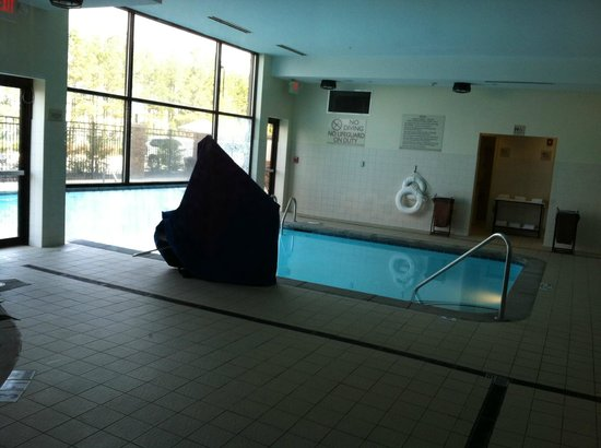 ‪هيلتون جاردن إن أتلانتا وست: Indoor/Outdoor pool (don't know what that big covered up thing is)‬