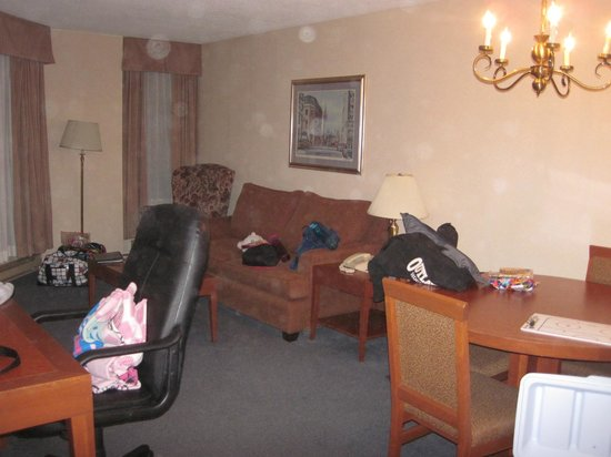 Les Suites Hotel Ottawa: living area - good amount of space