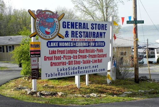 Lakeside Resort Restaurant & General Store: Sign