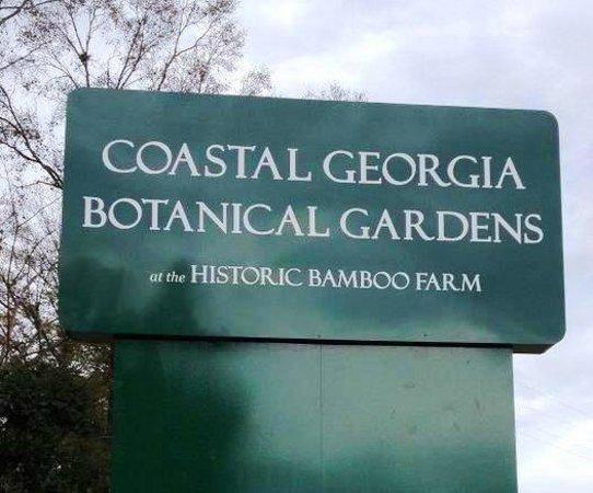 Coastal Georgia Botanical Gardens: The sign off of US-17, Coastal Highway