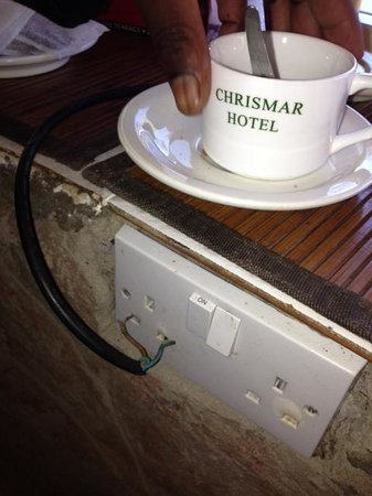 Chrismar Hotel : Decide for yourself when picking up your cup of coffee for the morning tea