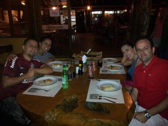 Badaue: jantar em Maresias
