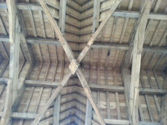 The Irish Oak ceiling in Donegal Castle