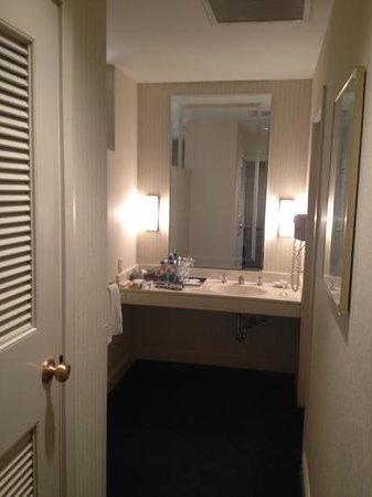 Cincinnatian Hotel: dressing room, with full ironing board, and comfy robes