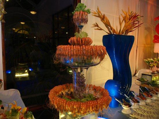 Royal Palms Beach Hotel: Posiłki na sylwestra
