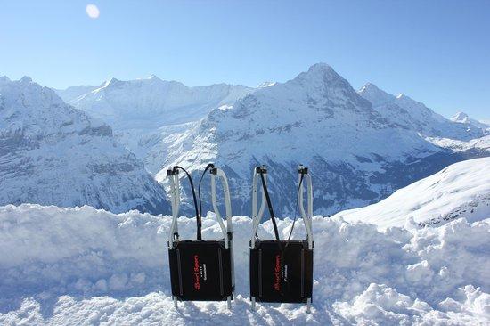 Grindelwald, Schweiz: Break on the way up