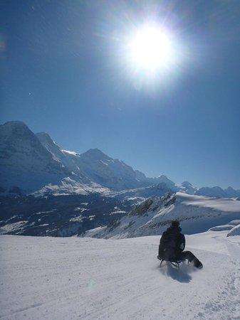 Grindelwald, Schweiz: Picking up speed