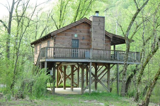 Incredible Living And Bed Area Small Cabin Picture Of Whispering River Largest Home Design Picture Inspirations Pitcheantrous