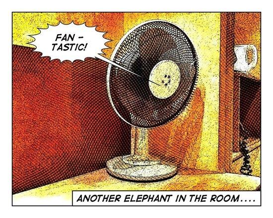 The Hog's Back Hotel & Spa Farnham : Cooling fan?