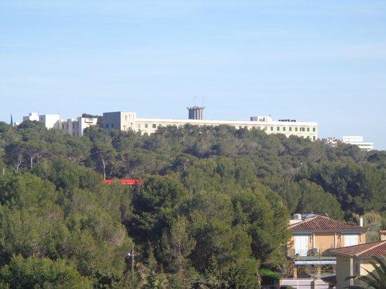 Don Miguel Playa Hotel: La Iglesia de La Porciúncula (de Cristal) desde la terraza