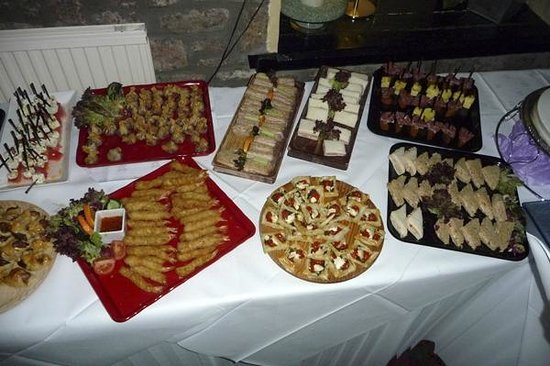 Rodney Stoke Inn : A selection of the delicious savouries for the evening buffet of the wedding
