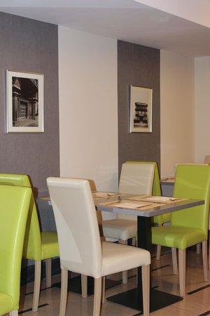 Hotel Clement Prague: Gute Farbwahl im Frühstücksraum