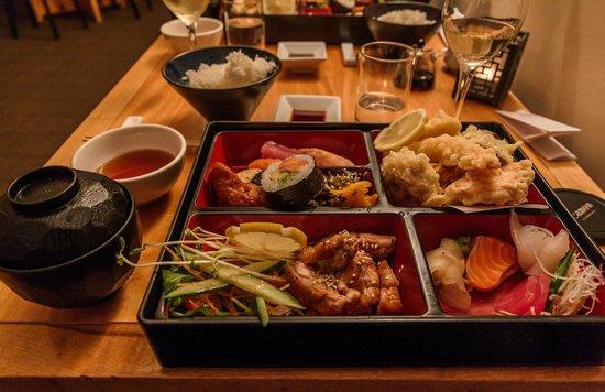 Miyazu Japanese Restaurant: Full bento setup