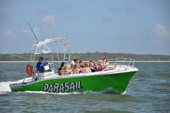 H2O Sports: New USCG 12 Passenger Parasail Boat..