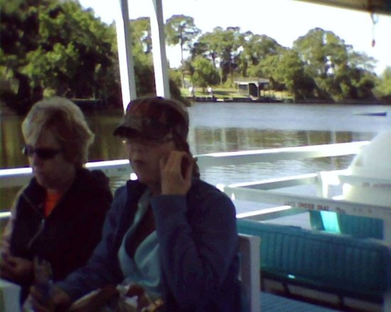 Indian River Lagoon and Swampland Boat Tours: 2 ladies that were on our boat tour